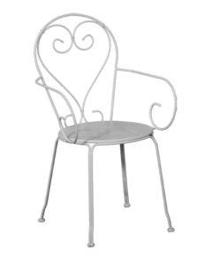 Egy tipikus fém kerti szék